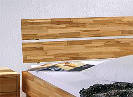 Bett Madrid Komfort zweiteiliges Kopfteil Kernbuche