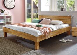 Bett Madrid aus robusten und stabilen Massivholz