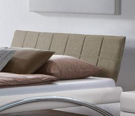 Bett Markala inklusive Kopfteil mit Webstoff