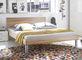 Bett Mendo aus Dekorholz in 140x200cm