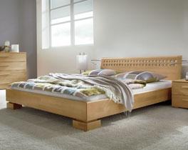 Bett Lima aus Massivholz und mit Kopfteil