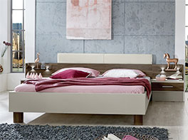 Bett Moa in 180x200 cm inklusive Nachttische