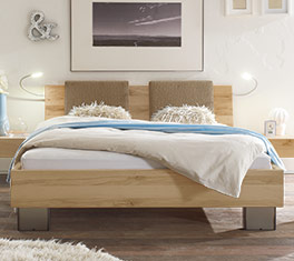 Bett Paleo mit optionalen Rückenkissen