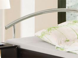 Bett Parla mit bogenförmigen Kopfteil aus Metall
