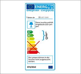 Bett Patiala mit LED-Leuchten Zertifikat