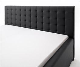 Modernes Bett Pattani mit gestepptem Kopfteil