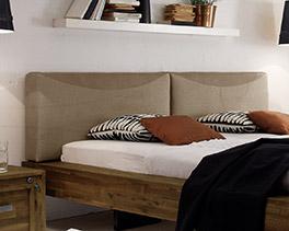 Kopfteil vom Bett Penco aus Kunstleder und Strukturstoff