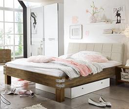 Rustikales Bett Pica in Doppelbettgröße