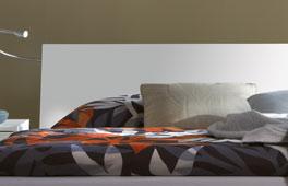 das Kopfteil ergaenzt sich perfekt mit dem Bett