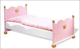 Bett Prinzessin Karolin aus massiver Fichte