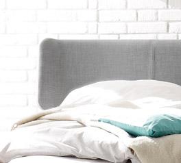 Komfortabel gebogenes Kopfteil des Bettes Rakaia