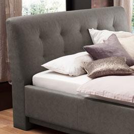 Bett Saida mit komfortabel gepolstertem Kopfteil