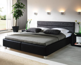 Bett Sanremo Schlafzimmer Leder hochwertig