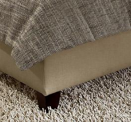 Bett Sansone mit wengefarbenen Holzfüßen