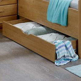 Bett-Schubkasten Trikomo mit praktischer Griffmulde