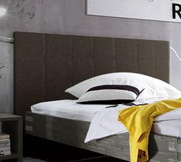 Bett Talca mit Webstoff-Kopfteil