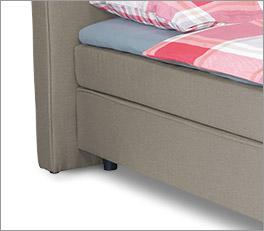 Bett Tom Tailor Soft mit Kunststoff Füssen