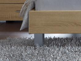 Die bettbeine des Bettes Treviso aus alufarbenem Metall