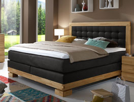 Hochwertiges Bett Viterbus mit Boxspring-System