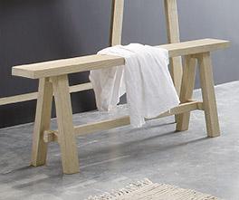 Bettbank Boneda aus Wildeichenholz