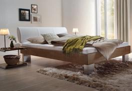 Buche-Bett Nuno mit Bettrahmen aus Massivholz