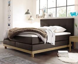 Boxspringbett Diori mit durchgehendem Matratzenkern