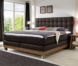 boxspringbett aus echtholz im landhaus look irving. Black Bedroom Furniture Sets. Home Design Ideas