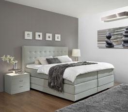 Maracay bietet besonderen Komfort als Luxus-Bett in Grau