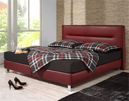 boxspringbett ohne topper in rot kaufen parga. Black Bedroom Furniture Sets. Home Design Ideas