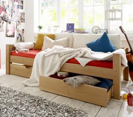 Hochwertiges Schubkastenbett Kids Fantasy aus massiver Buche