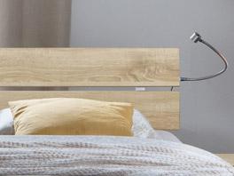 Das Kopfteil von Designerbett Treviso aus MDF