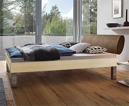 Designerbett Trani in Ahorn erhältlich in 160x200cm