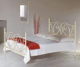 Doppelbett San Pedro aus Metall mit Fußteil