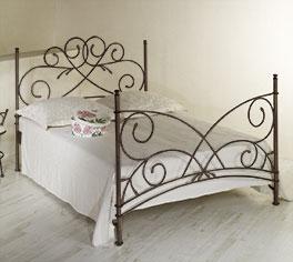 Doppelbett Amarete aus handgeschmiedetem Eisen