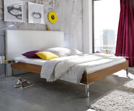 Modernes und robustes Doppelbett Anera