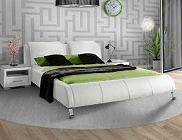 Echtleder Doppelbett Coventry mit abgerundetem Design