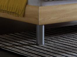 Das Doppelbett Enna mit bettbein aus Metall, Aluminium