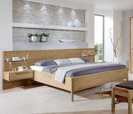 Doppelbett Fria inklusive Mittelholm