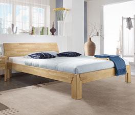 Doppelbett Jura aus biologisch geöltem Holz