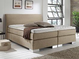 Stabiles Doppelbett Lato in modernem Webstoff