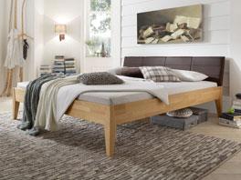 Das Doppelbett Leonardo aus Massivholz ist auch in 160x200cm erhältlich