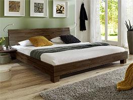 Doppelbett Lesina aus stabilem Massivholz