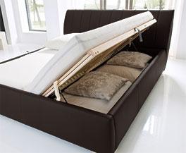 Doppelbett Lewdown mit seitlich zu öffnendem Bettkasten