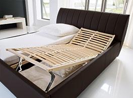 Doppelbett Lewdown mit Lattenrost mit Kopf- und Fussteilverstellung