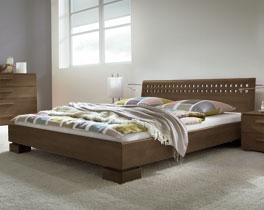 Hochwertiges und robustes Doppelbett Lima aus Buche