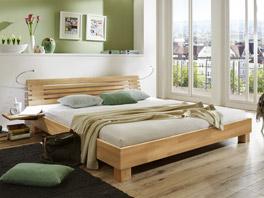 Doppelbett Marmore in sechs Buche Varianten