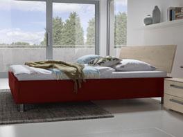 Das Doppelbett Lecce aus Massivholz Buche mit Kopfteil