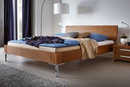 Doppelbett Stockholm in natürlichem Eichenholz