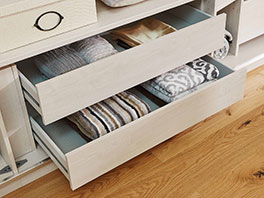 Schubladen als Schrank-Zubehör für Drehtüren- und Schwebetüren-Kleiderschränke