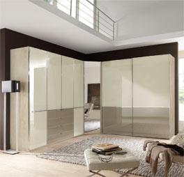 eck kleiderschrank in dekor mit dreh und schwebet ren banga. Black Bedroom Furniture Sets. Home Design Ideas